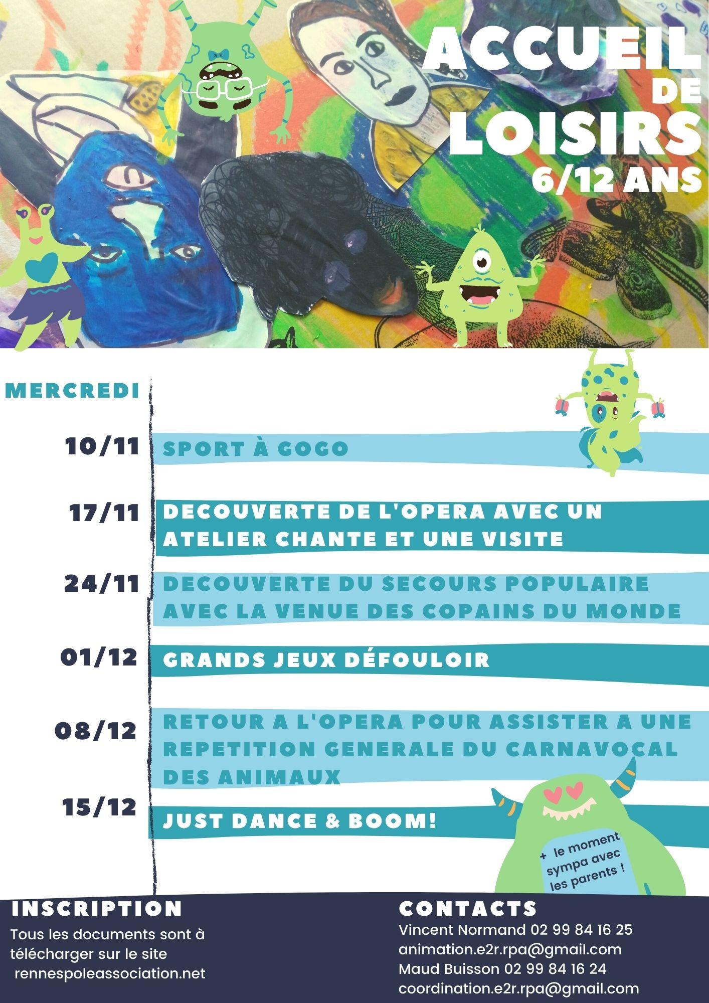 Programme Novembre / Décembre